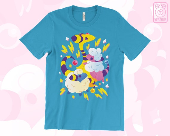 Mareep Flaafy Ampharos SWEATER Electric Sheep // Pokemon Johto // 2nd Gen // Electric Type // Ugly Sweater // Gamer Gifts 7bPCE