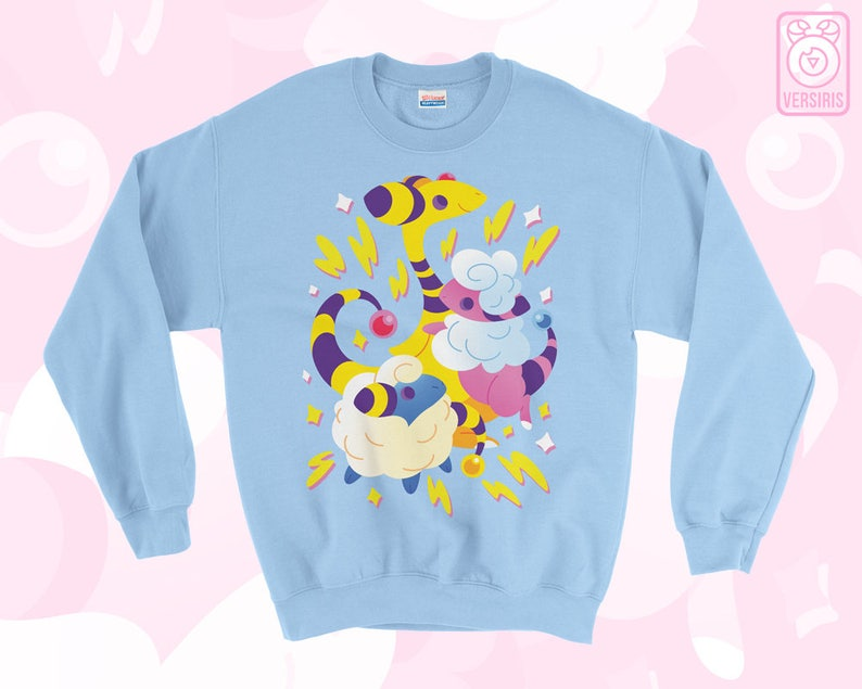 9820f3fc Mareep Flaafy Ampharos SWEATER 'Electric Sheep' // | Etsy