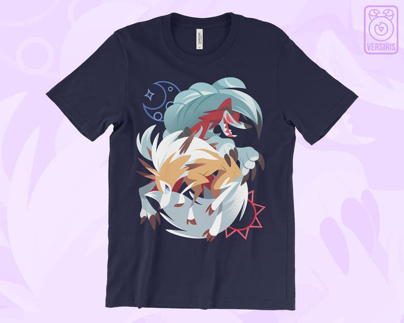 38812f42 Lycanroc T-SHIRT Pokemon // Pokemon Sun Moon // Rock Wolf // | Etsy