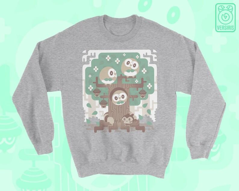 406961fa Rowlet SWEATER 'Wood Owl Woods' // Pokemon Sun Moon | Etsy