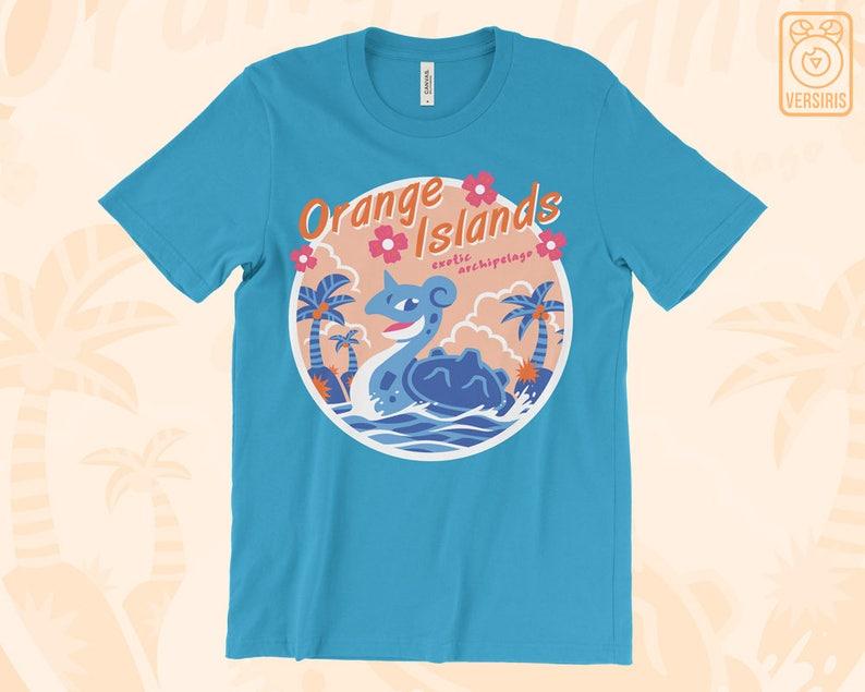 e8519c57 Orange Islands T-SHIRT // Pokemon Lapras // 90s Nostalgia // | Etsy