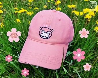Sleepy Slowpoke Dad Cap // Embroidered Hat // Cute // Pink // Retro // Gen 1 // Original 151