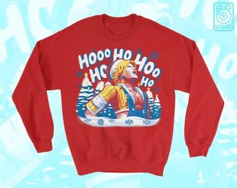 Tidus Laugh SWEATER 'Jolly Tidings' Yuna // Final Fantasy X FFX // Internet Meme // Funny // Ugly Sweater // Christmas