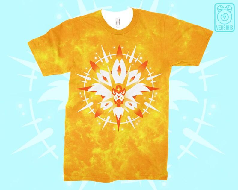 0c2ae91e Pokemon Sun T-SHIRT Solgaleo // All-Over Pattern Print // | Etsy