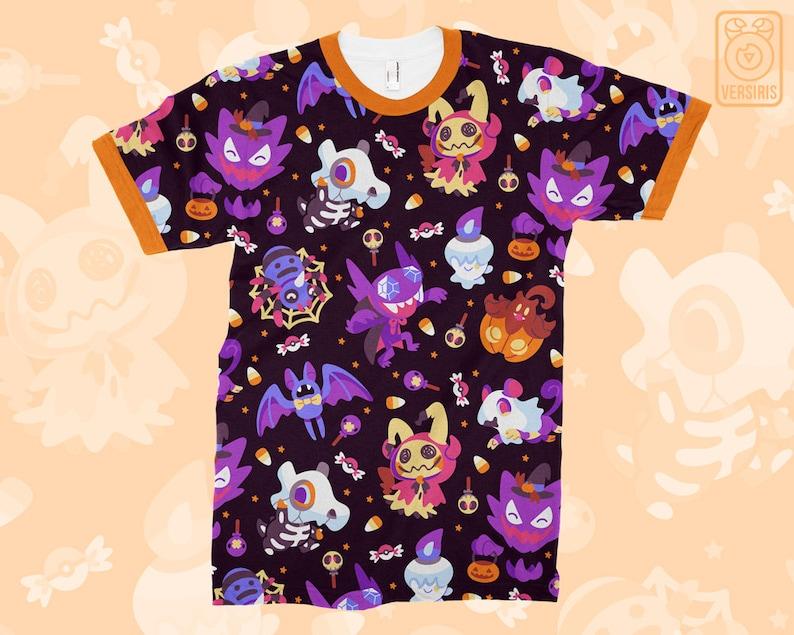 717387301 Halloween Pokemon T-SHIRT // All-Over Pattern Print // Ghost | Etsy