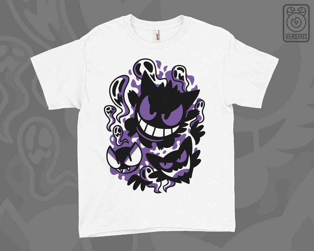 d6ff99d73 Gastly Haunter Gengar KIDS T-SHIRT // Evolutions // Ghost Type | Etsy