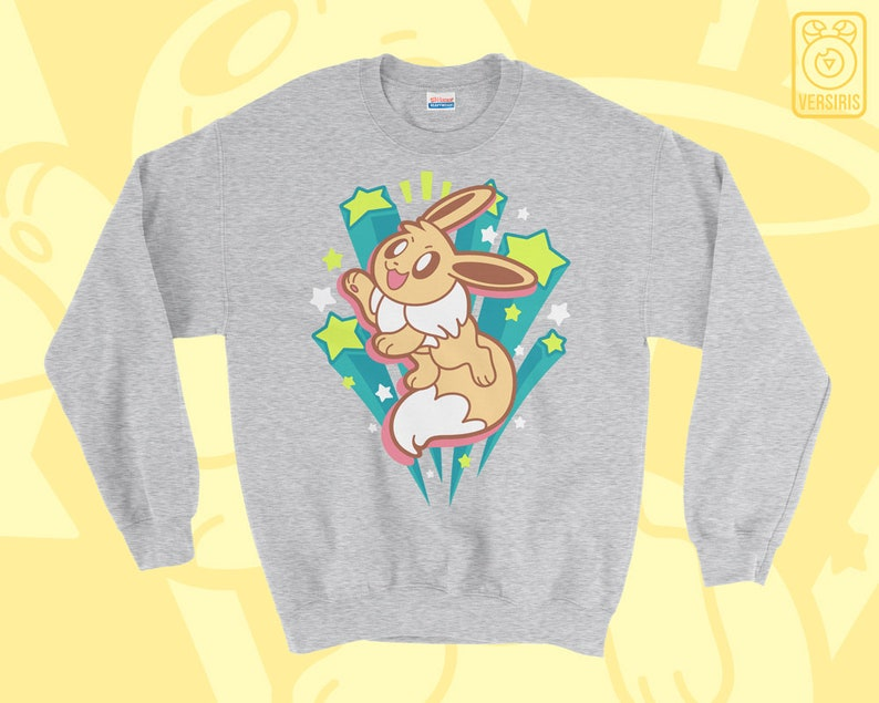 8e79270c7 Let's Go Eevee SWEATER // Pokemon Let's GO // Buddy // | Etsy