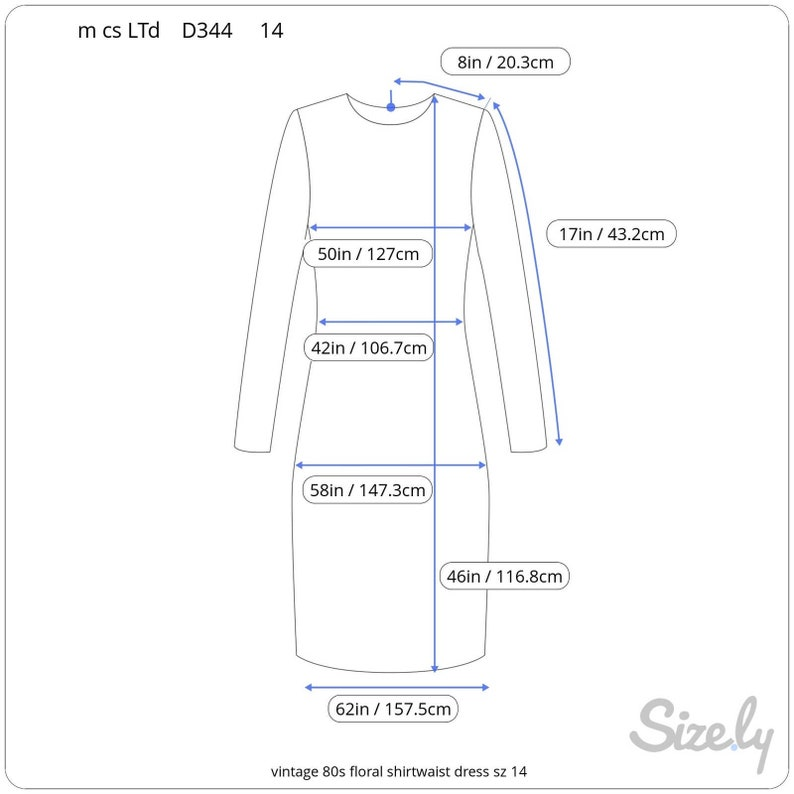 vintage 80s floral shirtwaist dress sz 14