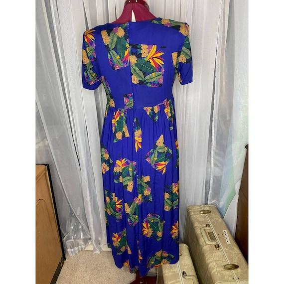dress 80s empire waist swing skirt - image 5
