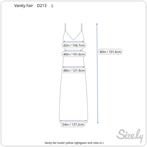 Vanity fair nightgown Robe set butter yellow - image 4