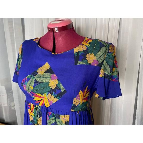 dress 80s empire waist swing skirt - image 3