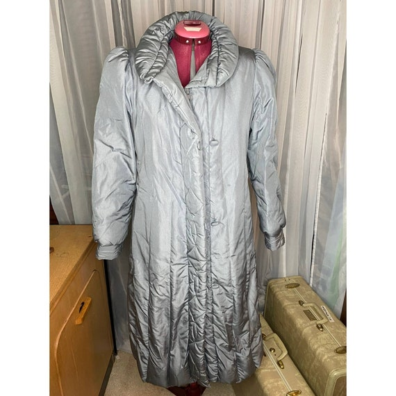 1980s Gray down puffer coat sz M