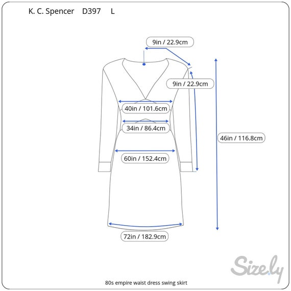 dress 80s empire waist swing skirt - image 10