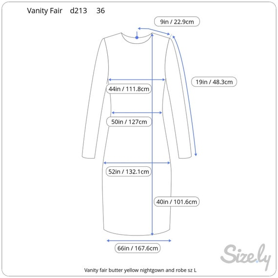 Vanity fair nightgown Robe set butter yellow - image 5