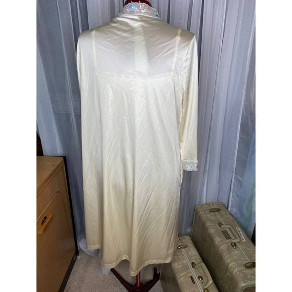 Vanity fair nightgown Robe set butter yellow - image 9