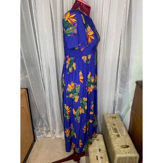dress 80s empire waist swing skirt - image 6