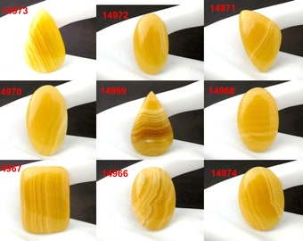 Yellow Lace Agate Gemstone Gemstone Cabochon,Physically Yellow Agate may help you with digestive disorders