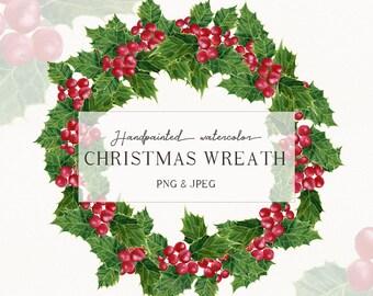 Christmas Clipart Png.Christmas Clipart Png Watercolor Digital Download Etsy