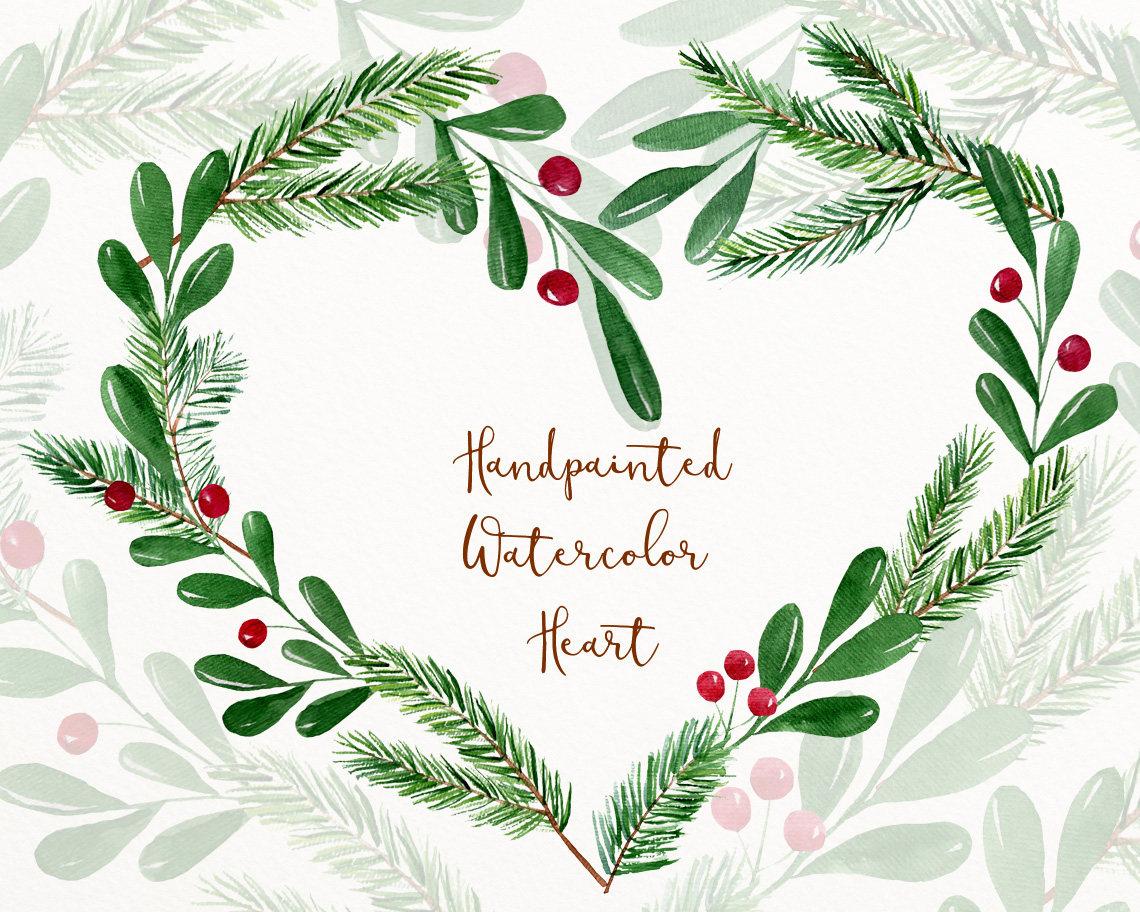 Winter Watercolor Clipart Winter Clip Art Christmas