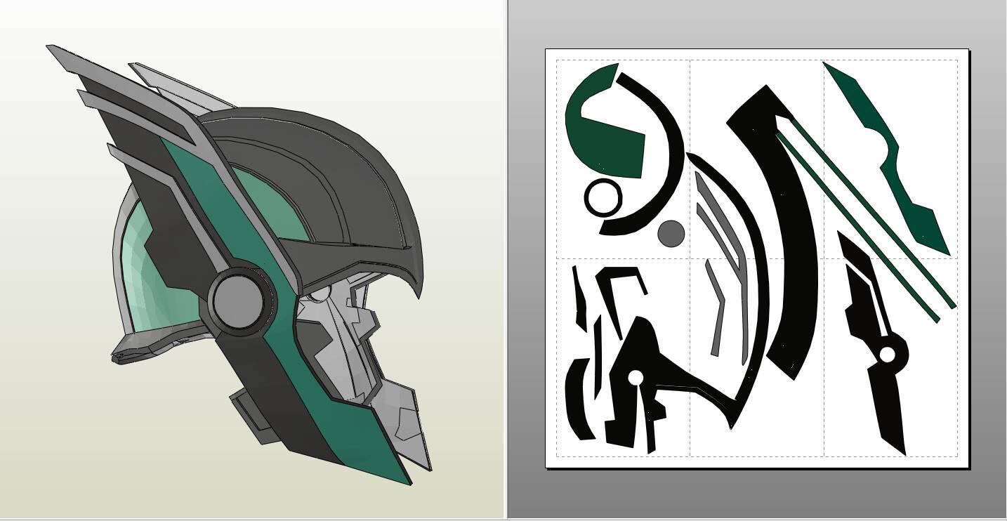 Helmet de Ragnarok Thor espuma Pepakura archivo | Etsy