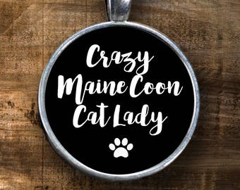 Maine Coon - Maine Coon Cat - Maine Coon Lover - Crazy Cat Lady - Gift for Maine Coon Cat Lover - Maine Coon Necklace