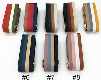 acf820c577 53 inch Adjustable Purse Strap Crossbody Bag Strap Striped Handbag Strap
