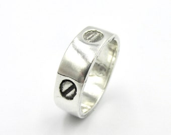 3d2fe7ed92 Unisex ring ring in silver 925 screw head pattern ring in the taste of  Cartier T 51.5