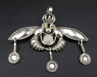 Silver Bee Pendant 925 Greek Archaeological Reproduction