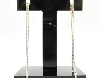 Long silver hanging chain earrings 925