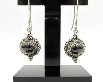 925 silver pendant earrings and garnet for women's watermark style