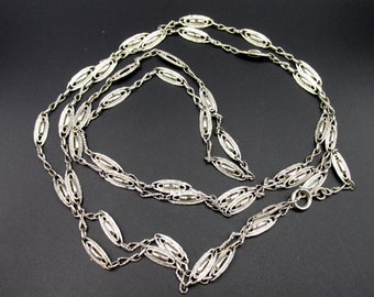 Superb great French chain era Napoleon III Victorian style in solid silver