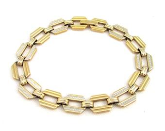 Fancy vintage bracelet links inspiration art deco gold and silver