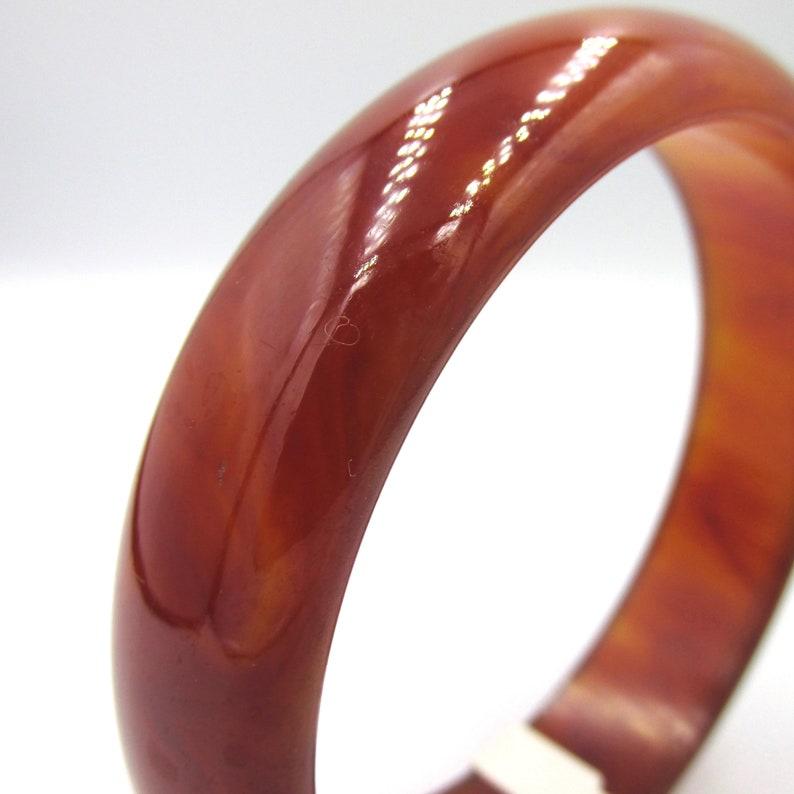 Large diameter bracelet wide Bangle vintage period art deco bakelite color amber