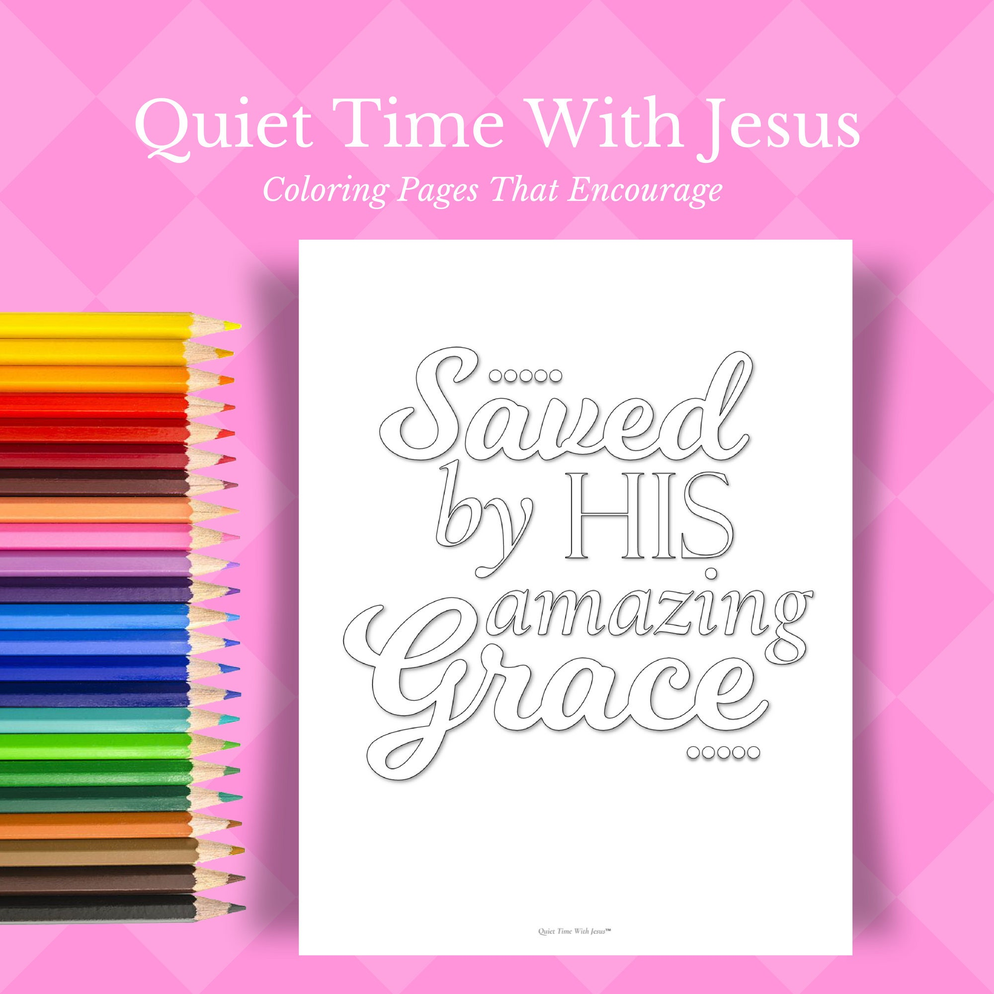 Bible Coloring Pages // Christian Wall Art // Christian