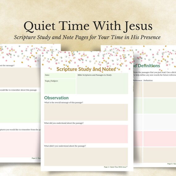 image about Printable Bible Study Guide known as Confetti Notes Religion Centered Printable // Bible Magazine // Scripture Research Lead and Notes Webpages // Prompt Down load // Bible Exploration Notes