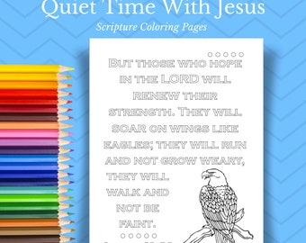 Bible Coloring Pages // Bible Journaling // Scripture Wall Art // Christian Coloring Page // Faith Printable // Coloring Book // Doodle