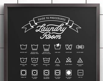 Laundry Room decor, Printable Art, Laundry Wall Decor, Laundry Room Signs, Laundry Symbols, Laundry Room Art, Laundry Art