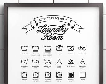 photograph relating to Laundry Symbols Printable named Laundry symbols Etsy