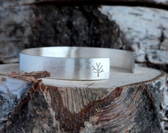 Trees Cuff Bacelet - Sterling Silver Bracelet - Nature Inspired Jewelry - Perfect Gift