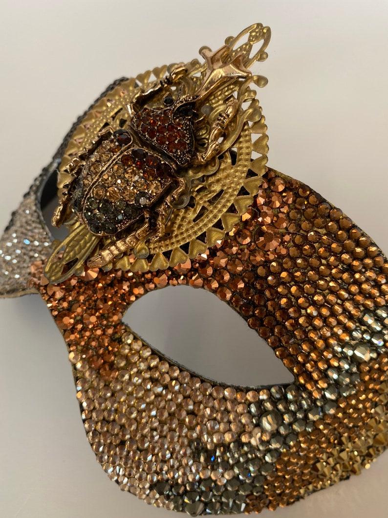 Party mask. Costume Mask Beetle Rhinestone Mask Luxury Masquerade mask
