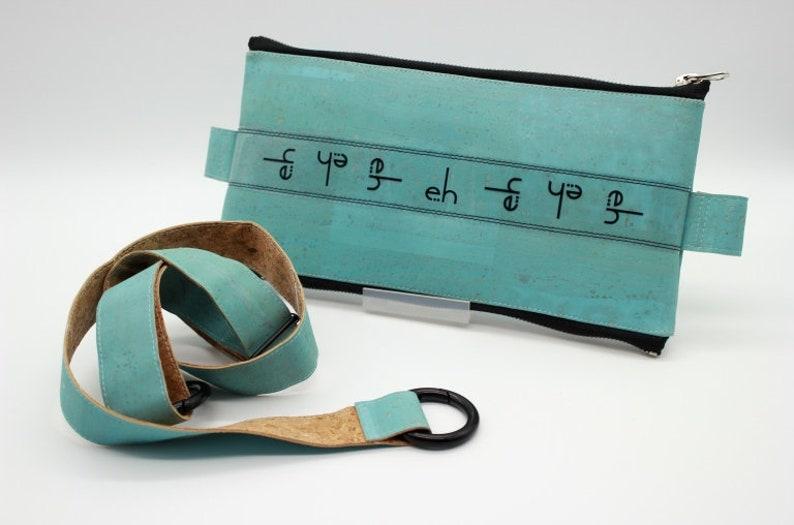 Hipster Urban Streetwear Cork Handbag Mens Minimalist Variable Eco Waist Bag Women/'s Blue Belt bag Turquoise Cork Convertible Sling Bag