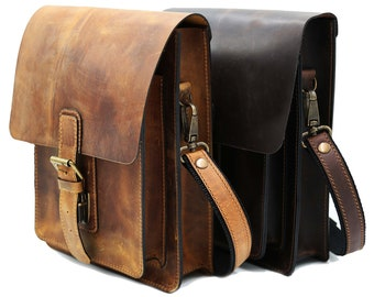 Messenger bags for men, Mens crossbody bags, Sling bag for men, Men leather shoulder bag, Personalized anniversary gift, Men Leather satchel