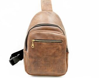 Men bags shoulder crossbody, Small sling backpack, Womens sling backpack purse, Mini backpack for women