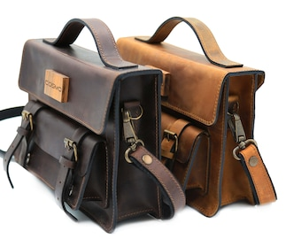 Stylish Leather satchel Bags for women, Customisable leather satchels and handbags, Top Handle Satchel Shoulder Bags, Top Handle briefcase