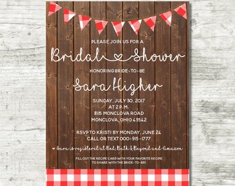 Bridal Shower Invite | Rustic Picnic [DIGITAL]