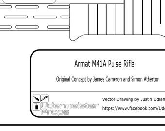 """Aliens """"M41A Pulse Rifle"""" Blueprint"""