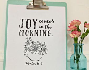 Joy Comes in the Morning Digital Download
