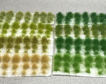 6mm Self-Adhesive Tufts - Grass Sampler Pack - Miniature Basing Material