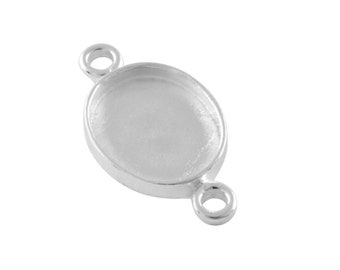 Crystal Hydro Quartz 20mm Round Cabochon 925 Sterling Silver Gold Plated Bezel Pendant With Two Loops