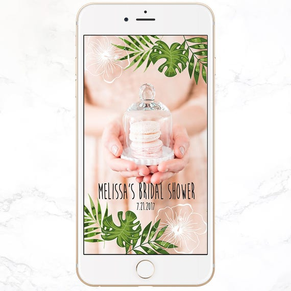 custom snapchat filter / personalized bridal shower snap chat | etsy